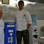 Die beiden Ausbilder der Lehrwerkstatt Gastronomie.
