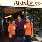 Danke an das Cafe Awake für den Schokochino zum Start!!