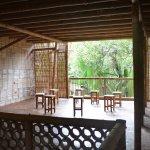 Eindruck von innen- wunderschöne Bambusarchitektur!