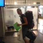 Mit ganz kleinem Gepäck...
