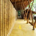 Ein Beispiel für Architektur aus Bambus.