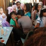 Kinderschminken im Colegio.