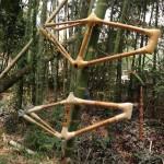 Bambusrahmen an Bambus